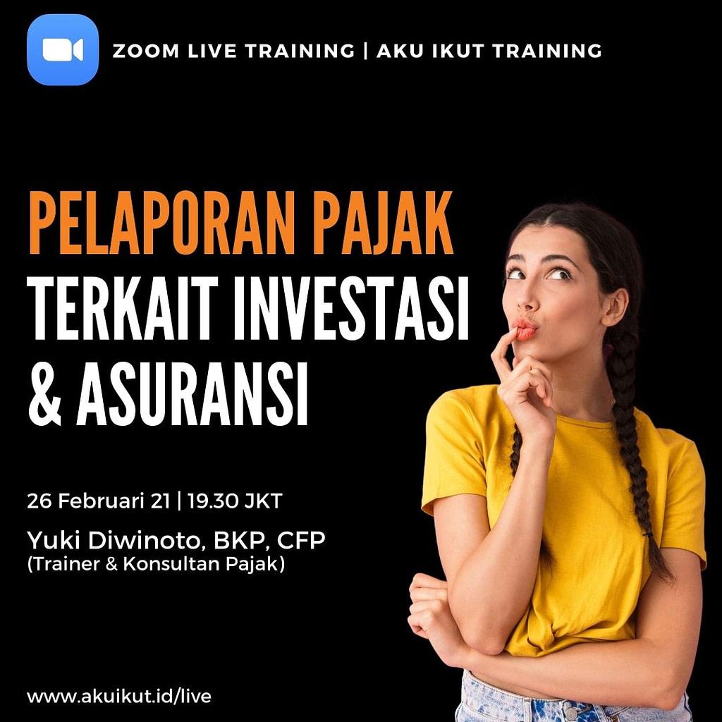 Training Pelaporan Pajak Investasi dan Asuransi