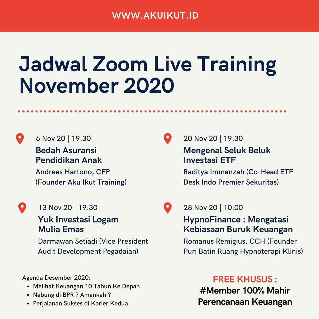 Training Perencanaan Keuangan Online November
